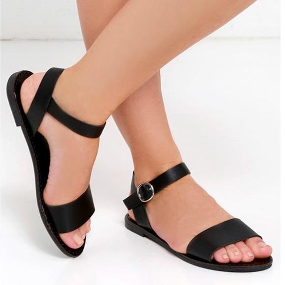 9edb7ee3bd4 Steve Madden Black Donddi Sandals